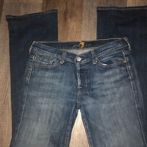 7 for all mankind bootcut jeans Sz 29 inseam 32 in